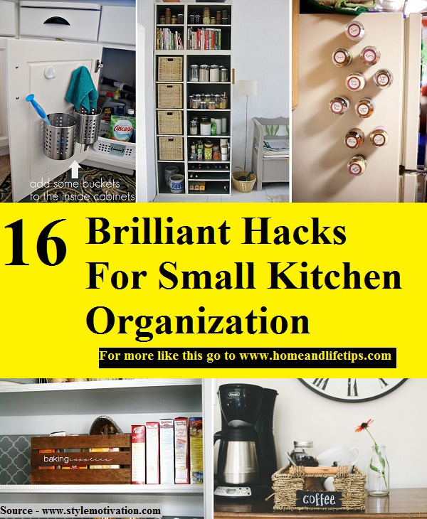 16 Brilliant Hacks For Small Kitchen Organization