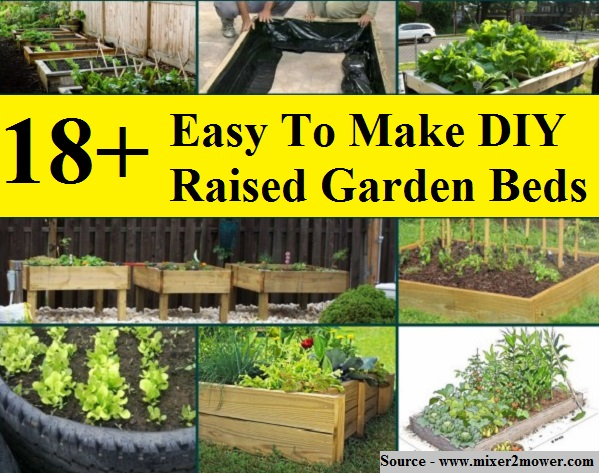 18+ Easy To Make DIY Raised Garden Beds