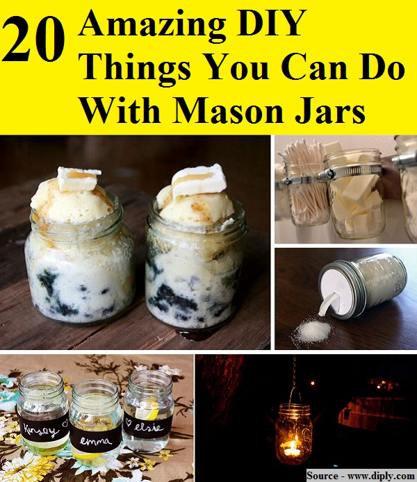20 amazing diy things you can do with mason jars home