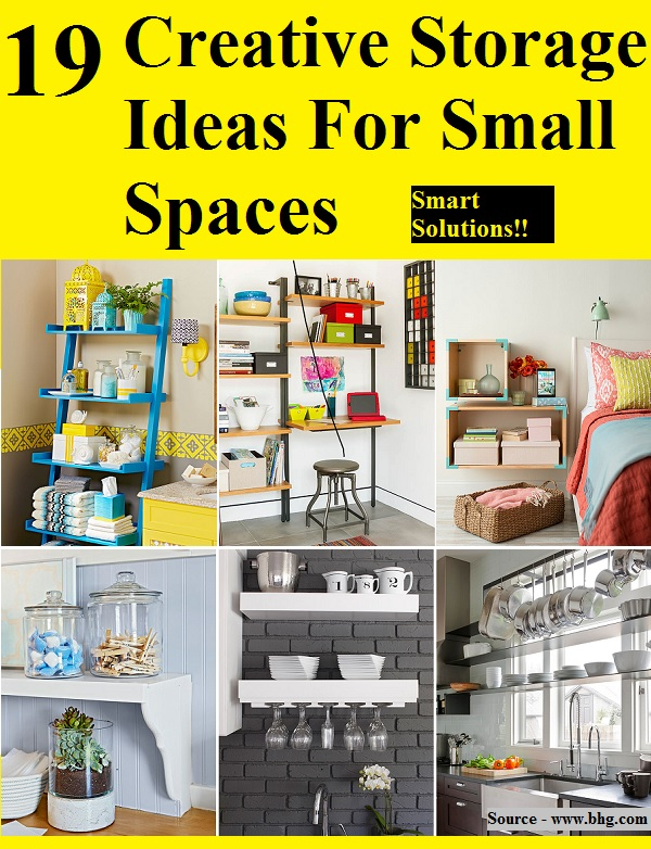 19 creative storage ideas for small spaces home and life tips - Creative storage ideas small spaces concept ...