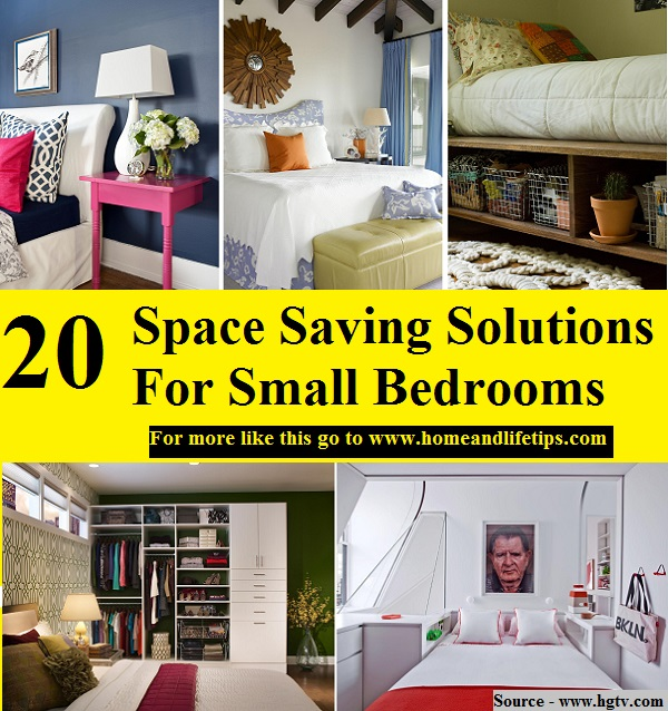 Http Www Homeandlifetips Com 20 Space Saving Solutions For Small Bedrooms Html
