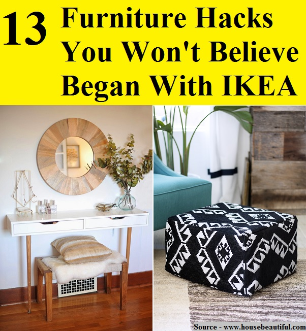 13 furniture hacks you won 39 t believe began with ikea home and life tips. Black Bedroom Furniture Sets. Home Design Ideas