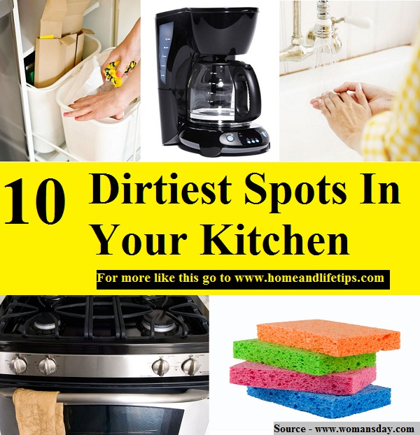 10 Dirtiest Spots In Your Kitchen
