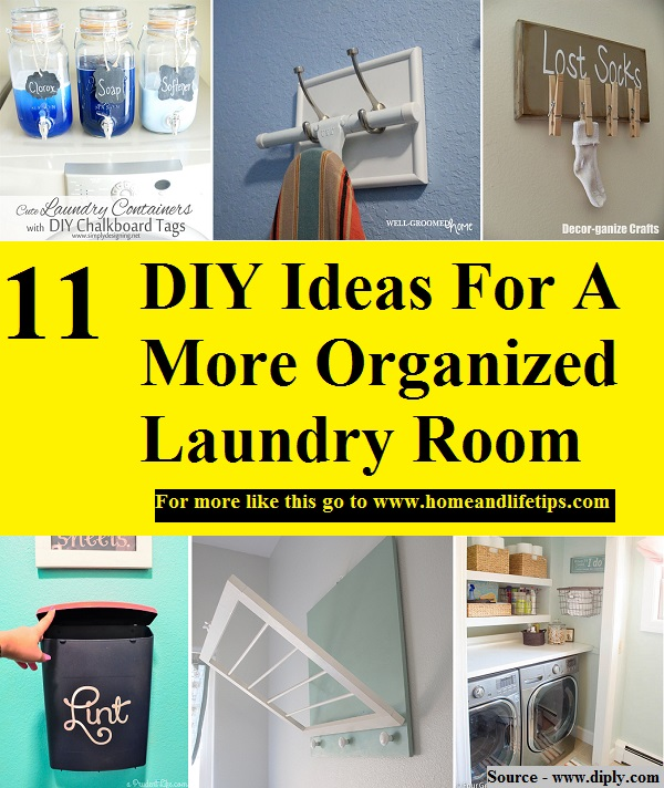11 DIY Ideas For A More Organized Laundry Room
