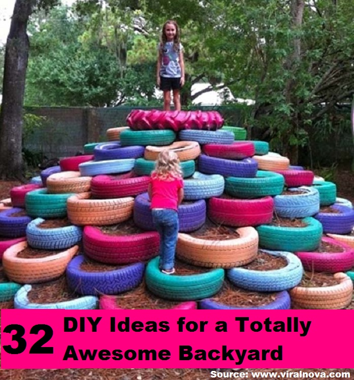 32 DIY Ideas For a Totally Awesome Backyard