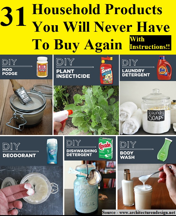 31 Household Products You Ll Never Have To Buy Again: 31 Household Products You Will Never Have To Buy Again