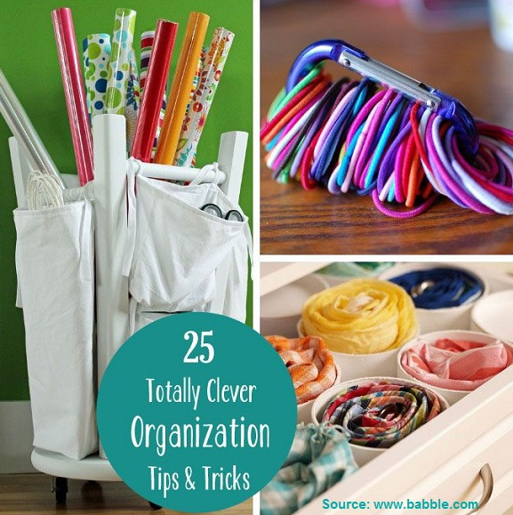 25 Totally Clever Organization Tips and Tricks