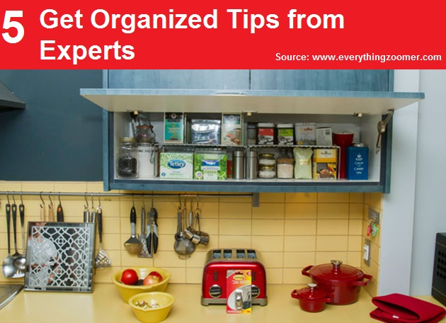 5 Get Organized Tips from Experts