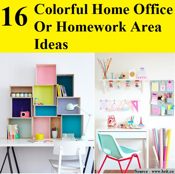 Colorful Home Office 16 colorful home office or homework area ideas - home and life tips