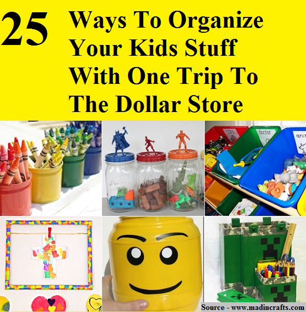25 Ways To Organize Your Kids Stuff With One Trip To The