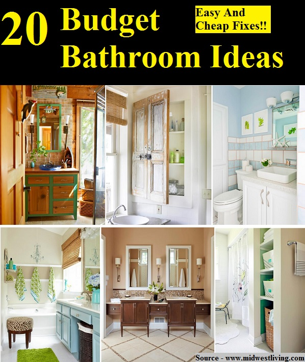 20 Budget Bathroom Ideas