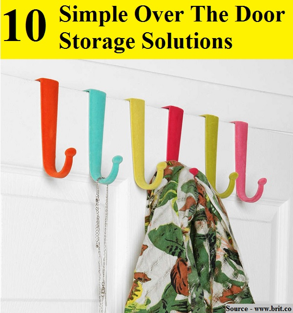 10 Simple Over The Door Storage Solutions