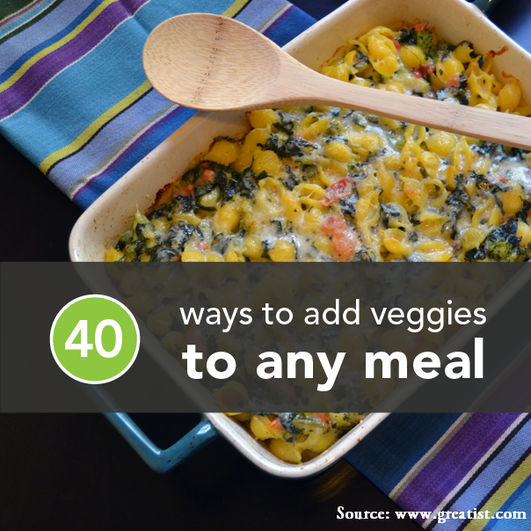40 Ways to Add Veggies to a Meal