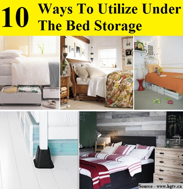 10 Amazing Ideas To Utilize The Space Under The Sink For Storage: 10 Ways To Utilize Under The Bed Storage