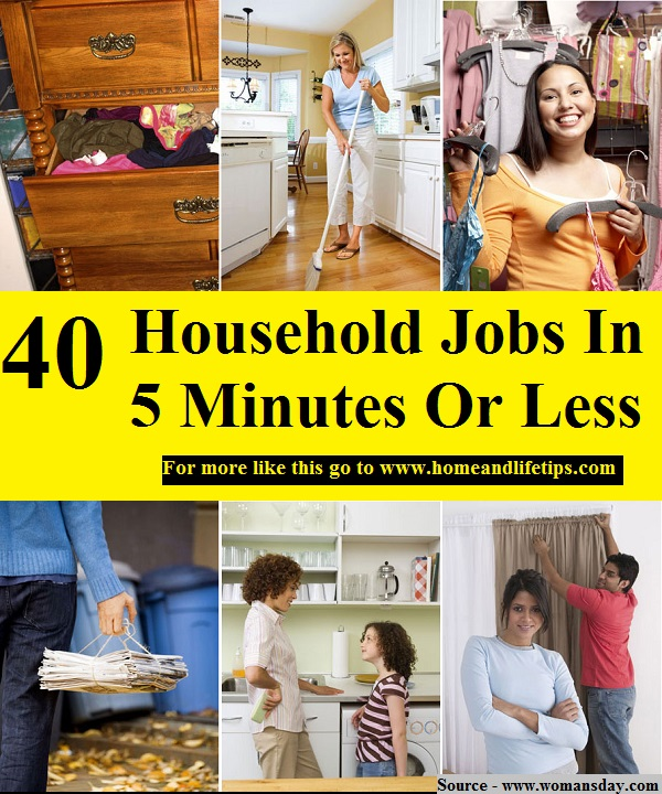 40 Household Jobs In 5 Minutes Or Less
