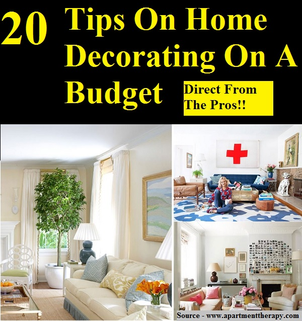 20 tips on home decorating on a budget home and life tips. Black Bedroom Furniture Sets. Home Design Ideas