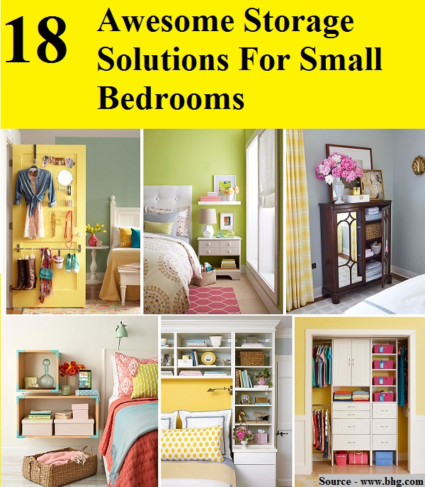18 Awesome Storage Solutions For Small Bedrooms
