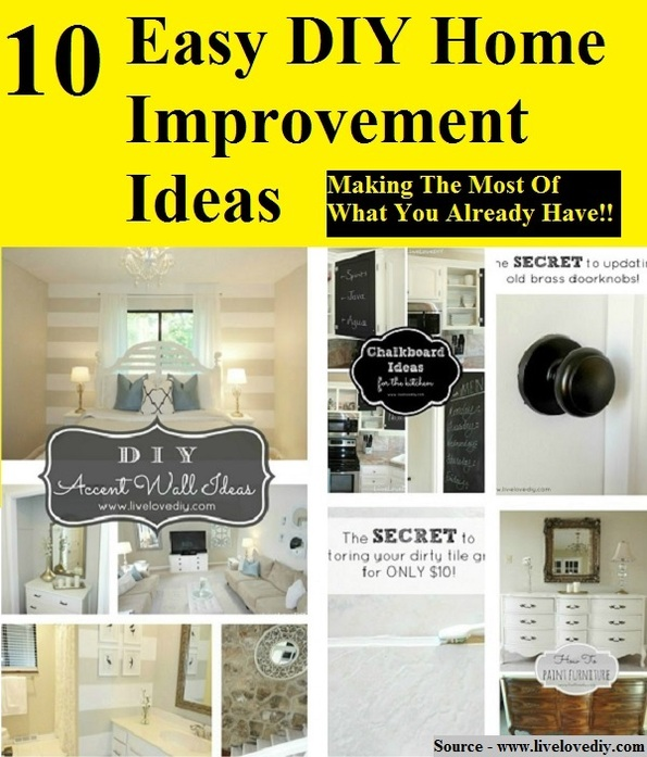 10 easy diy home improvement ideas home and life tips Home improvement ideas