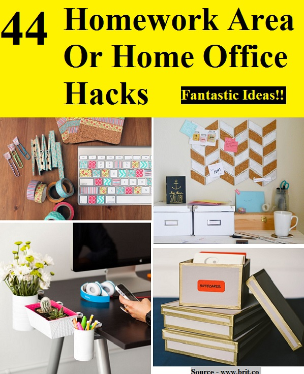 44 Homework Area Or Home Office Hacks
