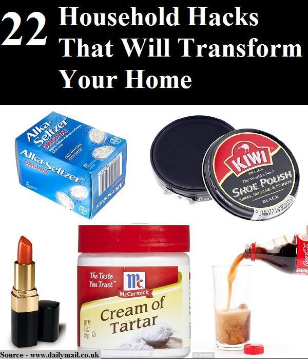 22 household hacks that will transform your home home for Household hacks