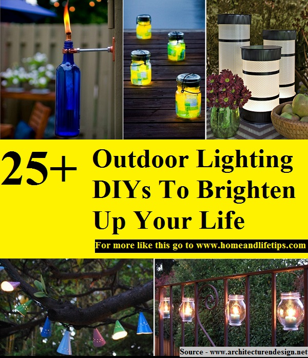These Outdoor Lighting Ideas Will Brighten Up Your Summer: 25+ Outdoor Lighting DIYs To Brighten Up Your Life