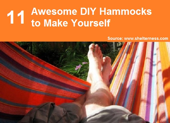 11 Awesome DIY Hammocks To Make Yourself