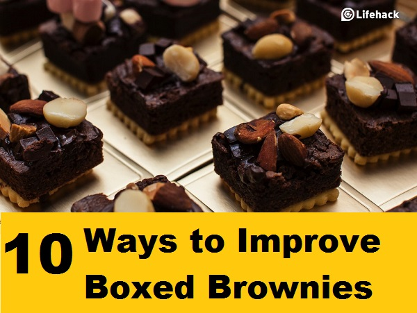 10 Ways to Improve Boxed Brownies