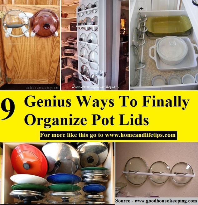 9 Genius Ways To Finally Organize Pot Lids