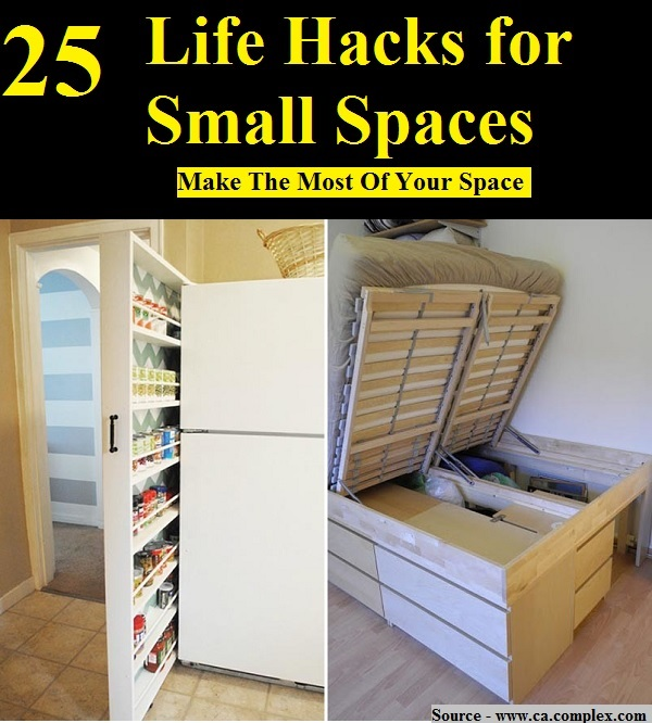 25 Life Hacks for Small Spaces