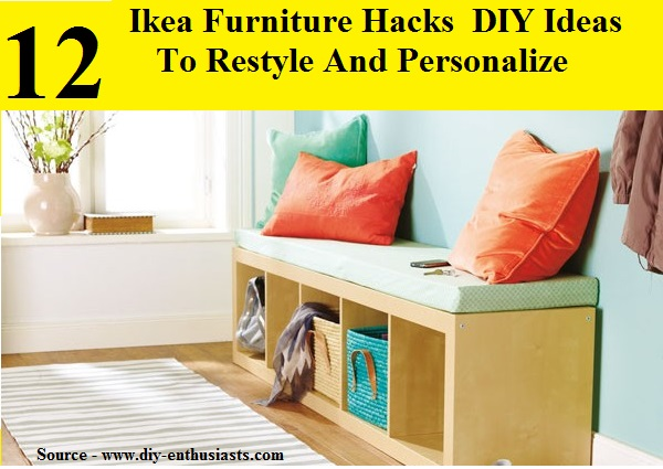 12 ikea furniture diy hacks and ideas to restyle your home home and life tips. Black Bedroom Furniture Sets. Home Design Ideas